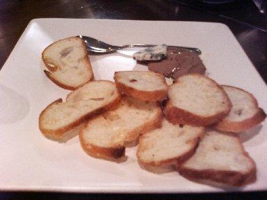 レバーペーストとパン