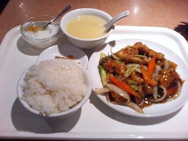 魚黒豆味噌炒め定食