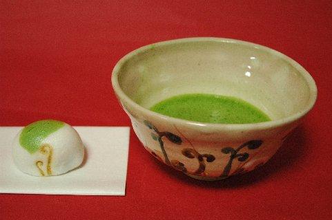 古京焼わらびの絵茶碗写し