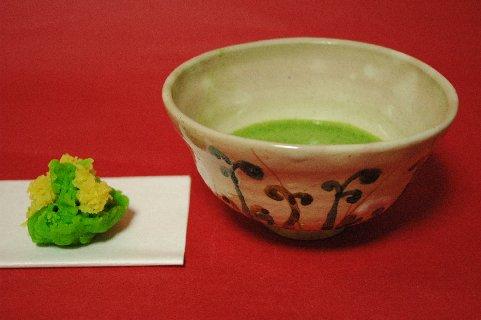 古京焼わらびの絵茶碗写し2