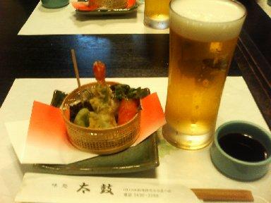 ビール&料理1