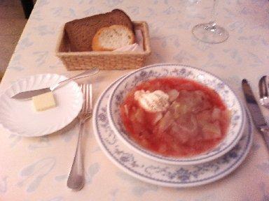 ボルシチと露西亜パン