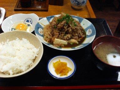 牛すき煮定食