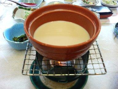 豆乳から豆腐つくり
