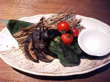 炙り野菜盛り合せ