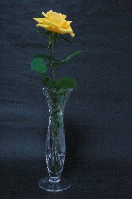 バラinガラスの花瓶