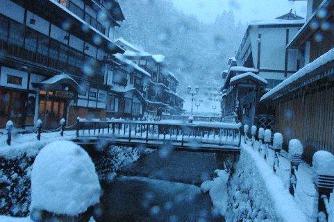 雪の銀山温泉2