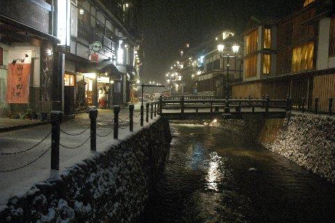 温泉街の夜景1
