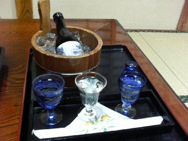 利き酒セットと最上川・純米吟醸銀山温泉