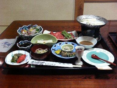 能登屋旅館・夕食1