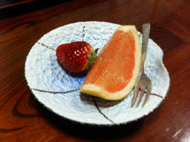 能登屋旅館・夕食 デザート