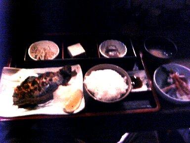 生サバ炭火焼とミニ刺身御膳