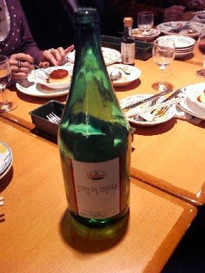 空っぽの赤ワインボトル