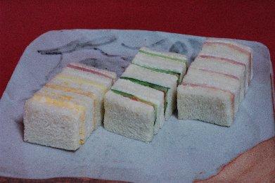 サンドウィッチ on 絵志野皿