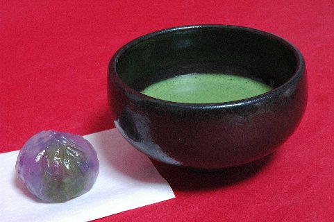 上野 紫蘇手茶碗