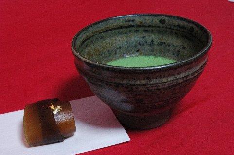 上野焼 灰釉天目茶碗写し