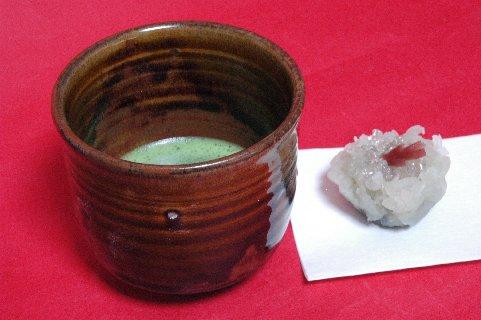 薩摩焼筒茶碗写し