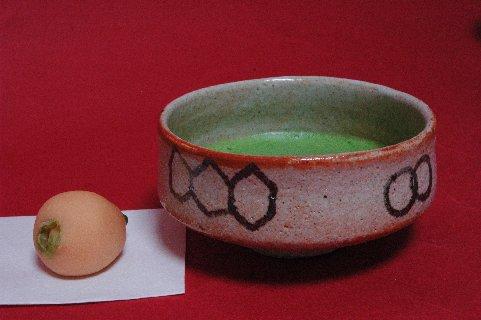 絵志野平茶碗