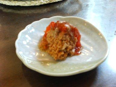 冷しトマトの肉詰め・カット