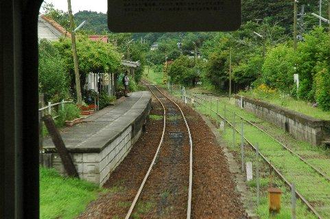 目的地:養老渓谷駅へ入線