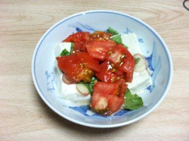 豆腐と、トマト・バジル