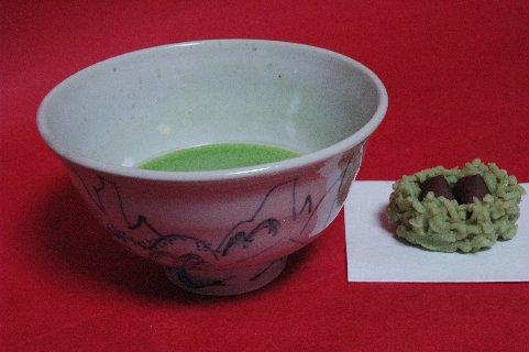 呉須山水茶碗写し