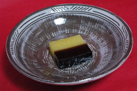 初秋 in 彫三島平茶碗