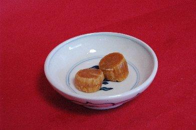 干し貝柱in安南染付小鉢