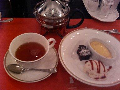 デザートプレート&紅茶