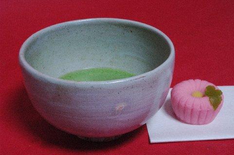 古曽部焼蕨小禽文釘彫茶碗写し