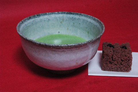 斑唐津茶碗