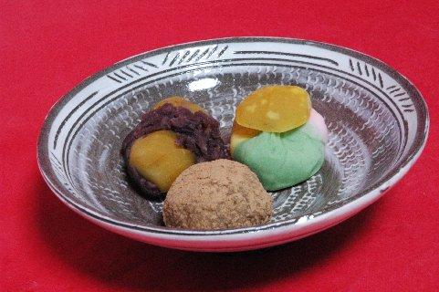 神無月の上生菓子 in 三島平茶碗