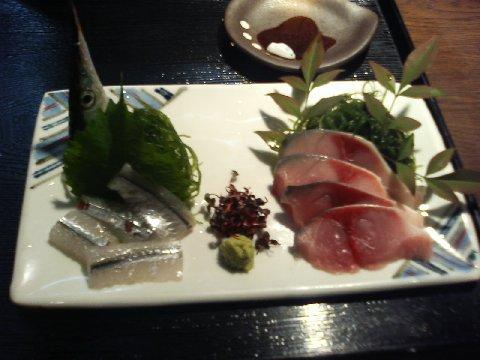 豊後の鯖と、カンヌキの刺身