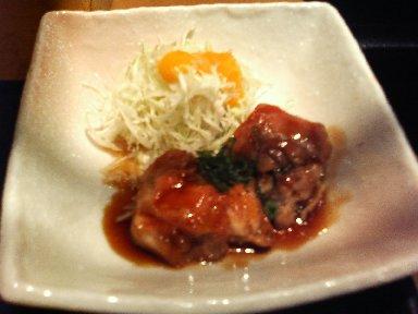 肉:若鶏の黒胡椒焼き