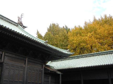 銀杏の樹の下辺りに、神農廟が
