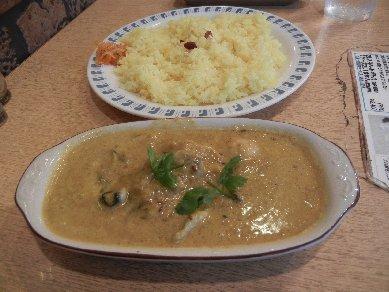 かきの味噌カレー