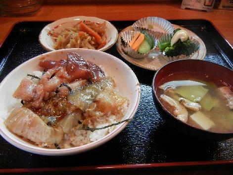 平目・メジマグロづけ定食