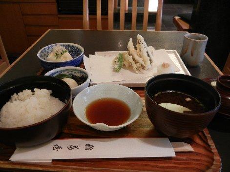 穴子の天ぷら定食