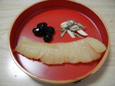 祝肴三種 / 黒豆 数の子 田作り