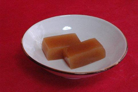 ゆず羊羹in白磁縁錆鉢