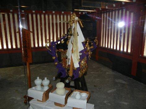 三社祭の神輿展示