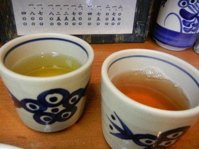 お茶とジャスミン茶