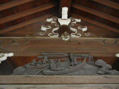 住吉神社・水盤舎・欄間