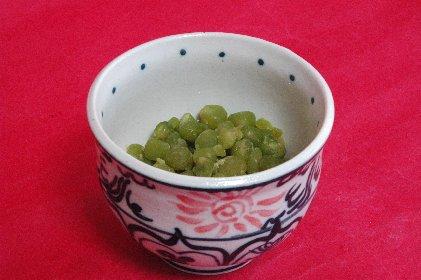 ふうき豆in紅安南小鉢