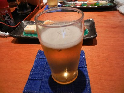 乾杯のビール