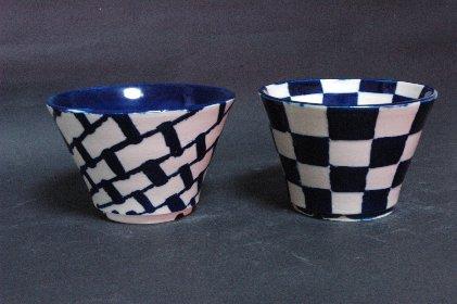 瑠璃釉丸鉢・2種