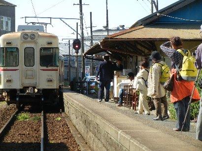 中ノ町駅で撮影