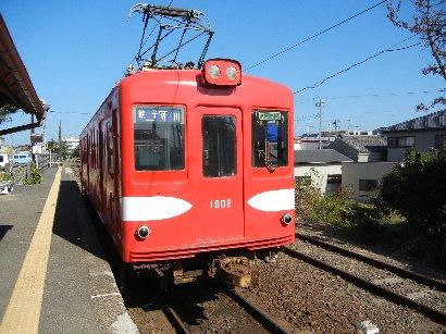 外川駅で撮影