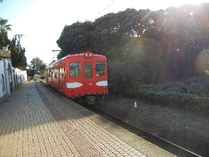 犬吠駅で撮影