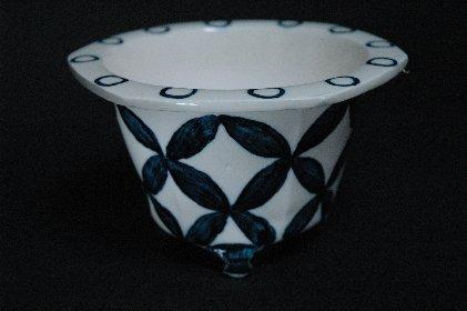 七宝つなぎ文・瑠璃釉鉢